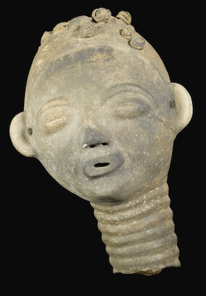 Memorial head, Gold Coast, Ghana, late 19th-20th century.