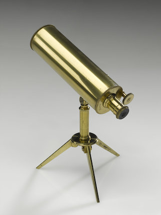 Gregorian reflecting telescope of 2 1/2 inch aperture and 8 inch focal length by Robert Brettell, 19th century.