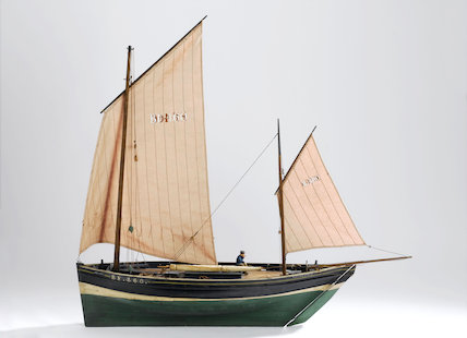 Model of Scottish Zulu Defiance of Portknockie, 1896.