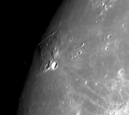 Aristarchus Crater, Vallis Schröteri in the Mare Imbrium, by Jamie Cooper.