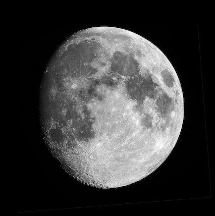 Waxing Gibbous Moon, by Jamie Cooper.