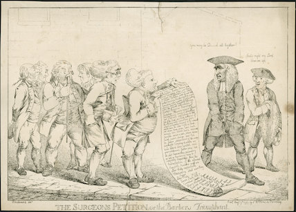The Surgeons Petition or The Barbers Triumphant'. 1797.