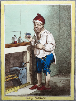 Taking Physick', print, United Kingdom, 1804.