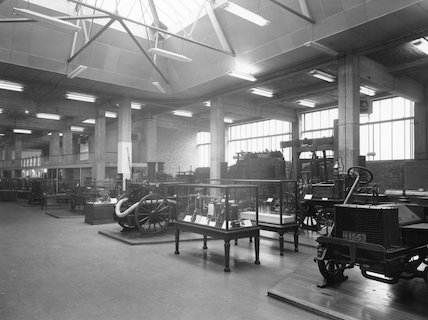 Fire fighting collection, Science Museum, 1955