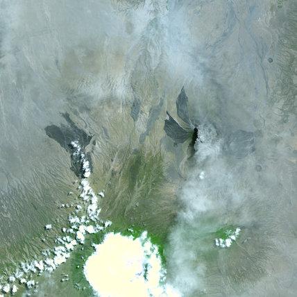 Plume from Tanzania's Ol Doinyo Lengai Volcano