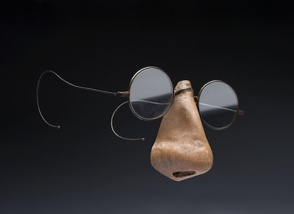 Spectacles with a False Nose Attached, England, 1890-1925.