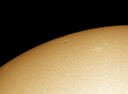 Sun spots in the solar limb, by Jamie Cooper.