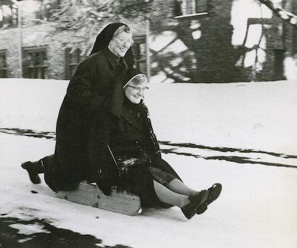 Tobogganing Nuns