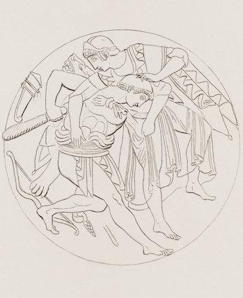 Minerva subduing Hercules: Rees' Cyclopaedia