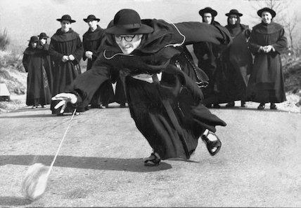 Priests with yo-yo.