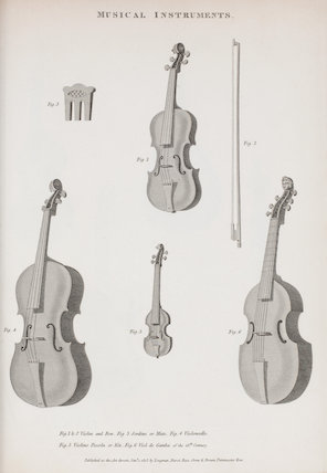 Music, Stringed Instruments: Rees' Cyclopaedia