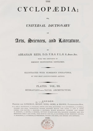 Title Page: The Cyclopaedia; Universal Dictionary of Arts, Sciences, and Literature, Volume 3