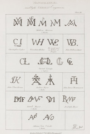 Monograms used by the German Engravers: Rees' Cyclopaedia
