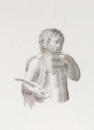 Pan playing Lituus: Rees' Cyclopaedia