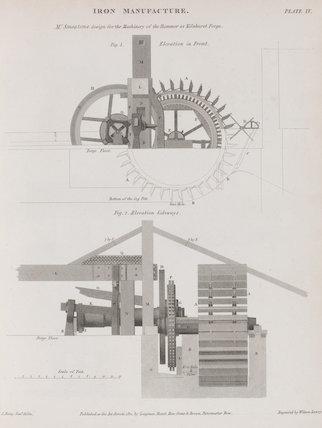 Hammer at Kilnhurst Forge: Rees' Cyclopaedia