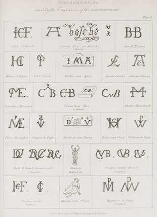 Monograms used by the Engravers of the Low Countries: Rees' Cyclopaedia