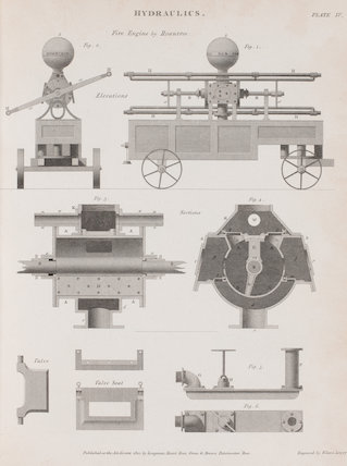 Fire Engine by Rowntree: Rees' Cyclopaedia