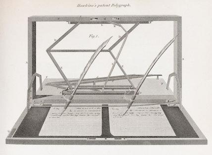 Hawkins's patent Polygraph: Rees' Cyclopaedia