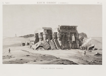 Koum Ombou, Egypt, Great Temple and associated buildings.