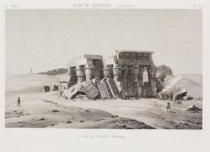 Koum Ombou, Egypt, Great Temple and associated buildings.