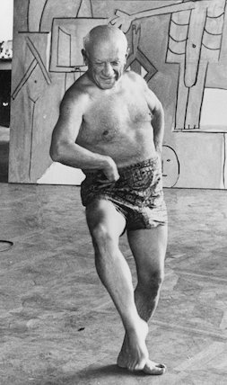 Pablo Picasso dancing