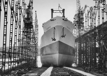 Last ship to be launched at Denn's of Dumbarton shipyard