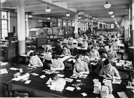 Savings Bank - Sorting Branch - 1935