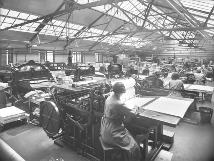Savings Bank - printing room - 1935