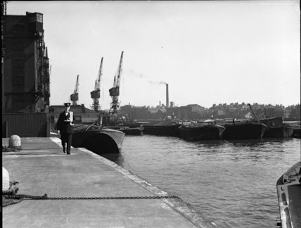 Postman at Wapping Pier - 1935