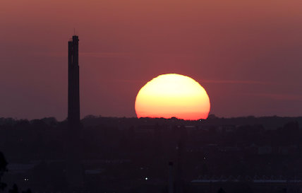 Sunset over Express Lift Tower, Northampton