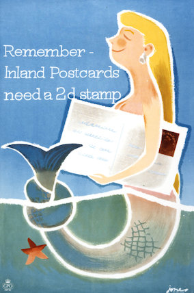 Remember inland postcards need a 2d stamp