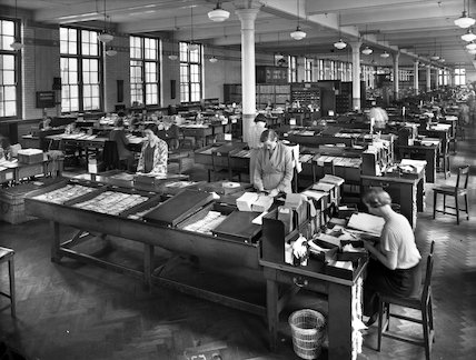 Savings Bank - Ledger Branch - 1935