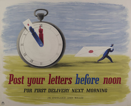 Post your letters before noon - 1941