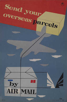 Send your overseas parcels by Air mail - 1951