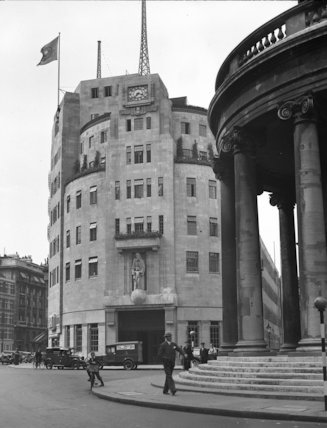 Mail van outside Broadcasting House, London - 1935