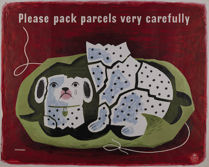 Please pack parcels very carefully - 1957