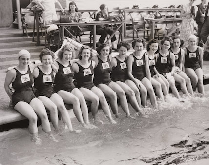 'Their Lucky Dip' (British Womens' Olympic swimming team), 1948