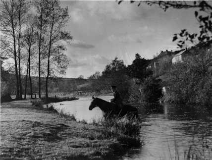 Somerset - postman on horseback near Withypool, Exmoor - 1938