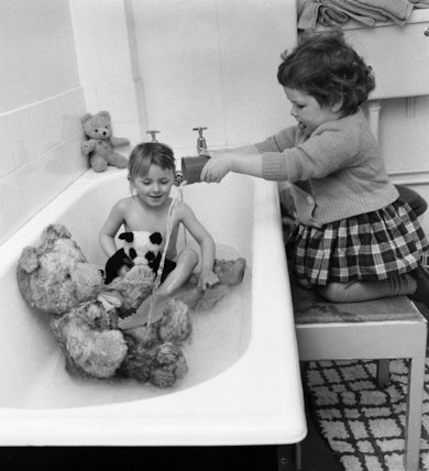 Teddy Bear Bath Night - 1963