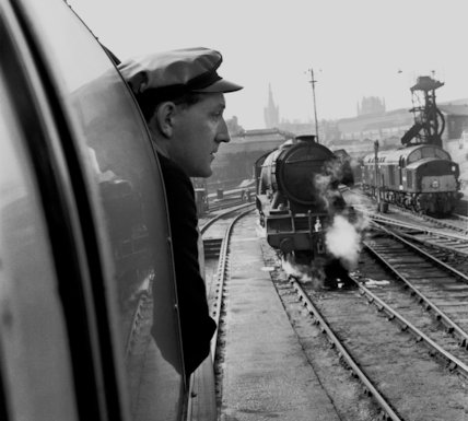 Flying Scotsman-driver & loco - 1962