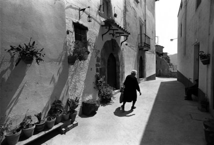 Street in Segovia Spain - 1981