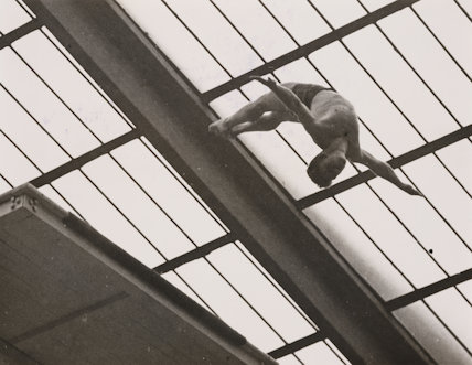 'R M Stigersand in the Men's High Diving competition, 4 August 1948