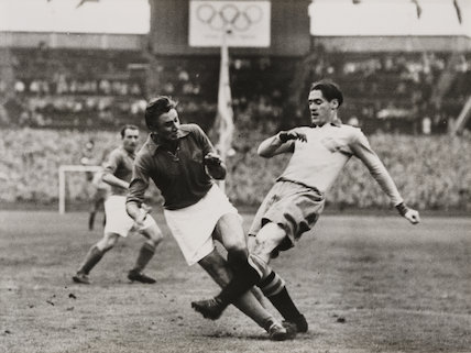 Sweden and Yugoslavia in Football final at the Olympic Games, 1948