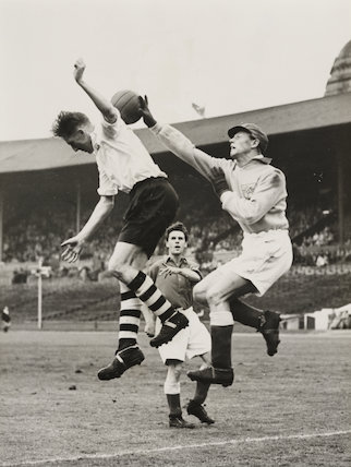 Olympic Games - England today met Denmark at Wembley, 1948
