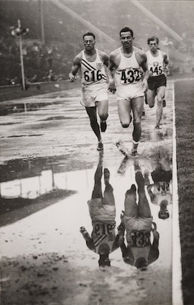 'Decathalon reflections', Olympic Games, London, 1948