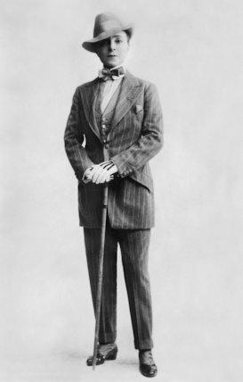 Vesta Tilley Dressed in a Day Suit - c1904