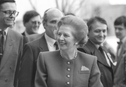 Margaret Thatcher tours Granada Television in Manchester - January 31, 1990