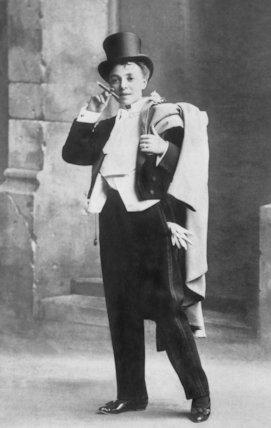 Vesta Tilley in Mens Evening Dress - c1908