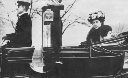 Lily Langtry in a Carriage - c1910