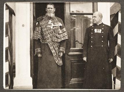 Russian snapshot album: two men in uniform, c.1915